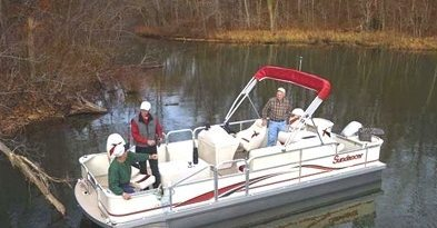 boat rental - fishing pontoon